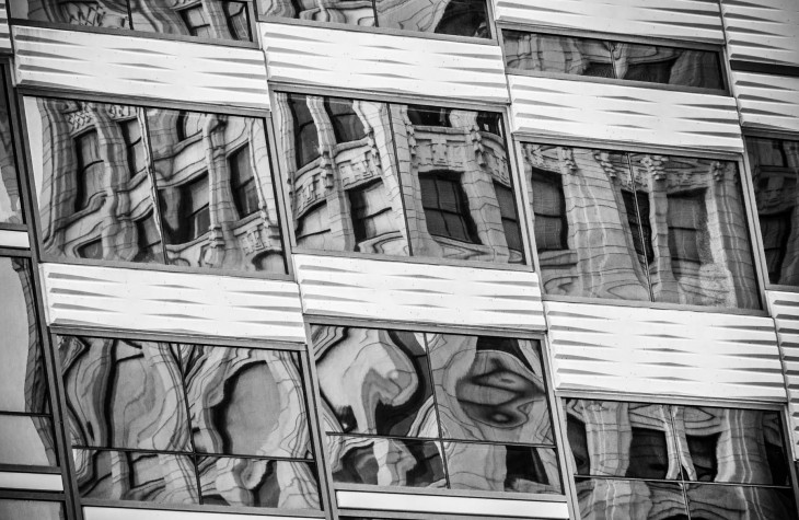 reflections black and white cleveland carnegie avenue
