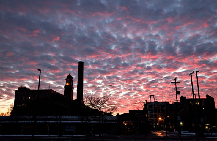 ohio city, sunset, cleveland, ohio
