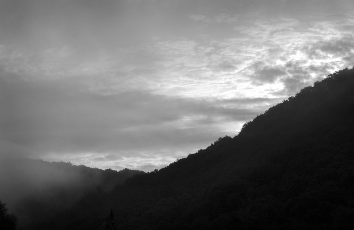 allegheny river clouds and mountains