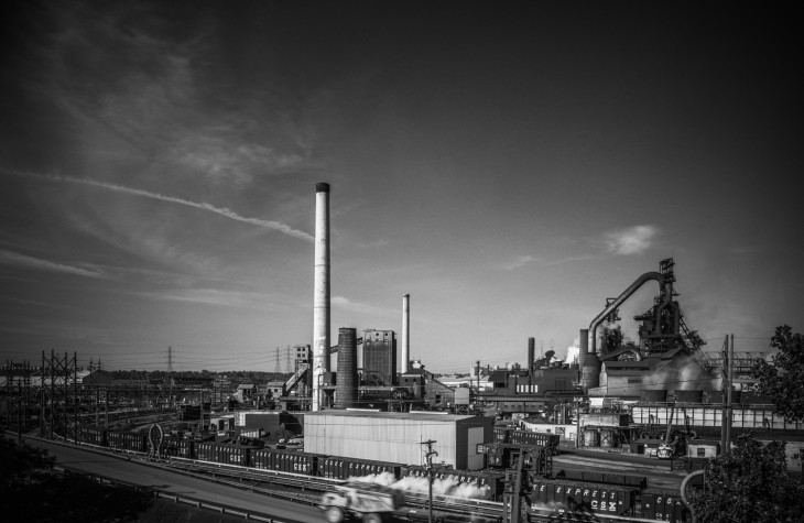 cleveland, cityscapes, industrial, 1994