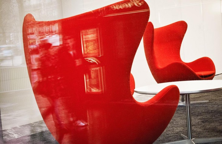paris, red chairs