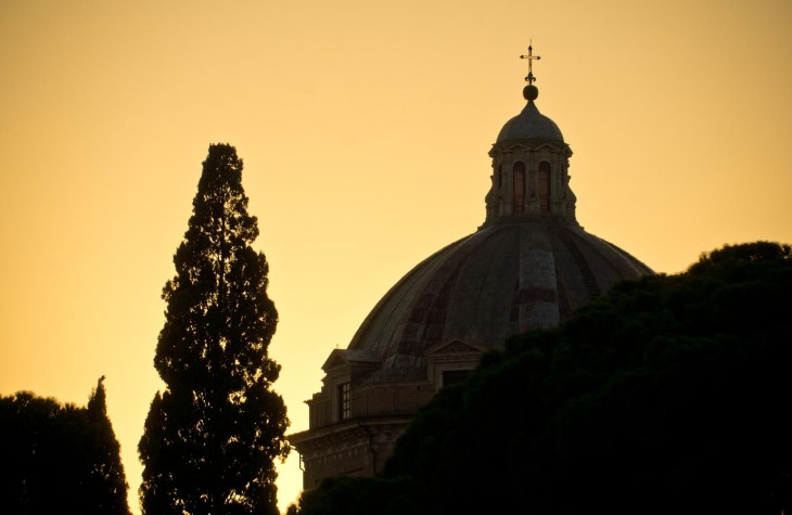 rome, italy, sunset
