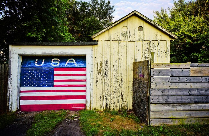 spafford usa painted garage