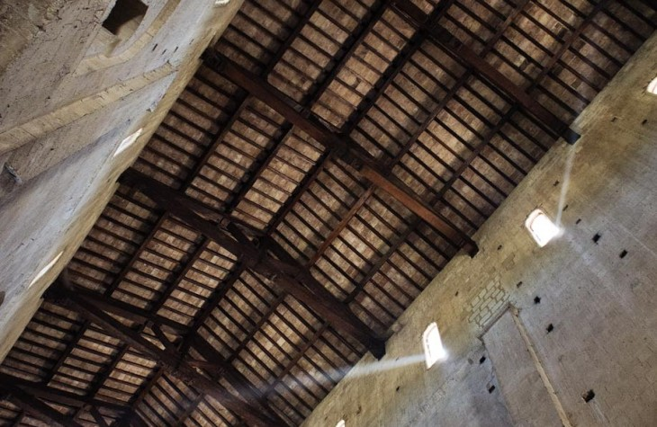 st antimo, abbey, italy, ceiling