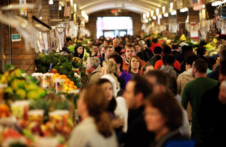west side market, fruit, vegetables, easter